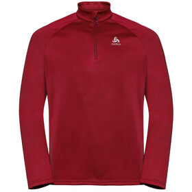 Odlo Pillon Half Zip Midlayer Herren red dahlia